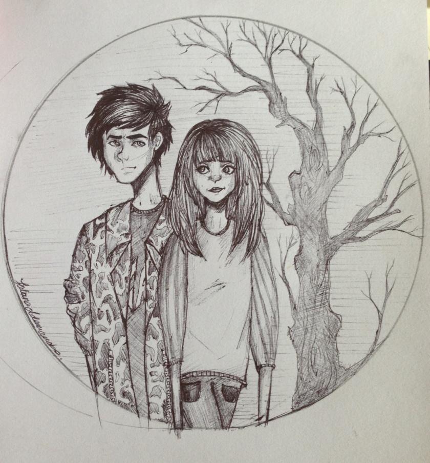 Tatiana's drawing of Trey & McKenna